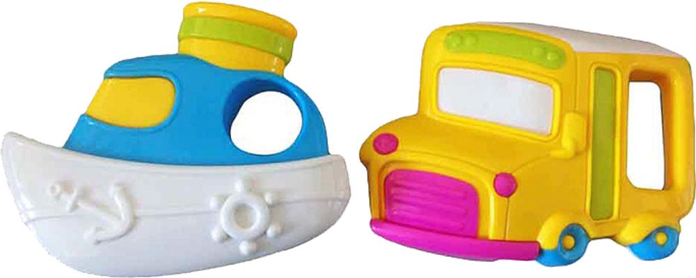 Погремушка Наша игрушка Автобус и кораблик автобус наша игрушка автобус продавца голубой w034