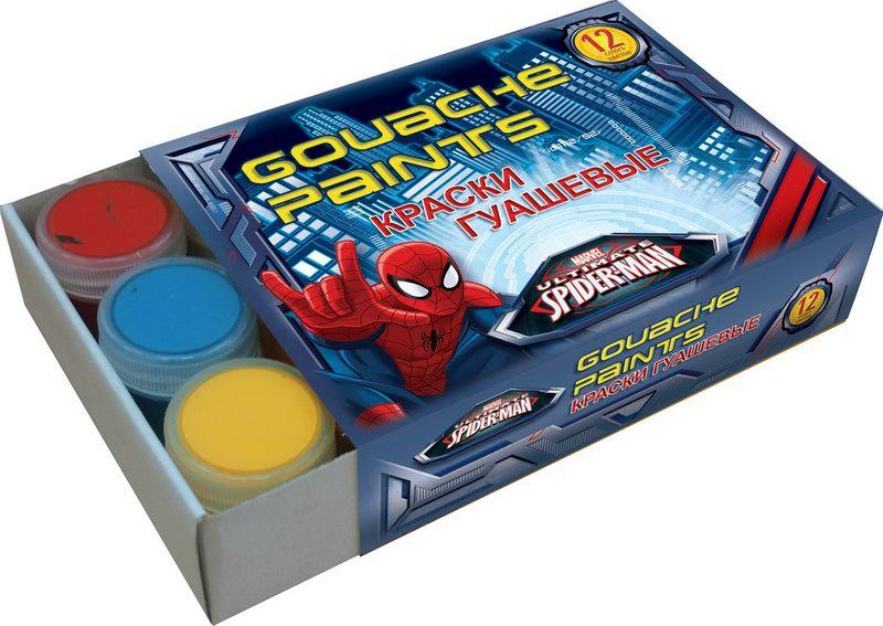 Краски гуашевые Spider-man Spider-man 12 цветов набор канцелярский spider man 2 пр