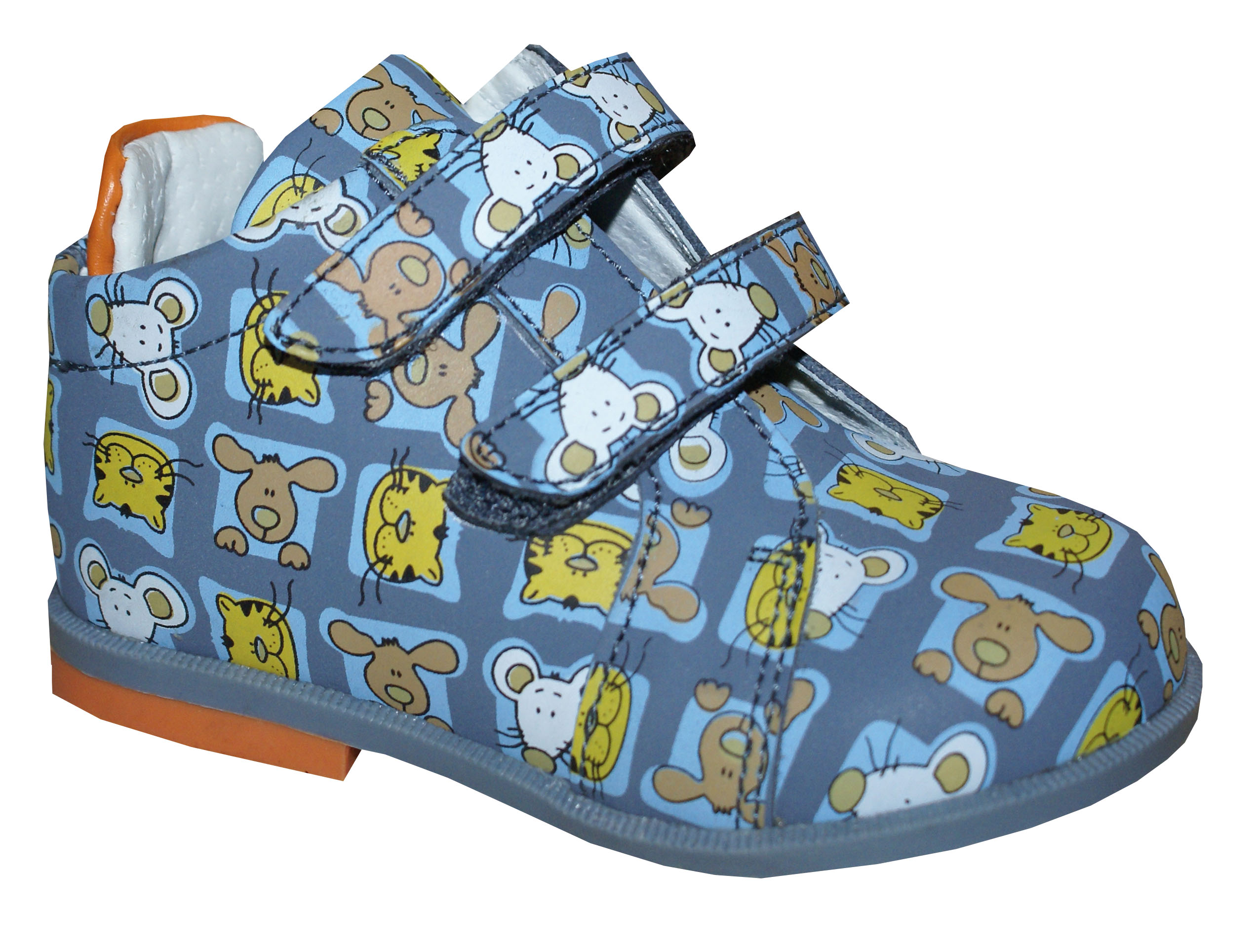 Ботинки и полуботинки Barkito Ботинки для мальчика Barkito, серые с рисунком кошки-мышки