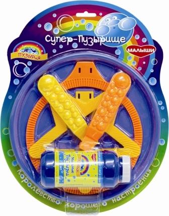 Мыльные пузыри BUBBLELAND Мыльные пузыри Малыши «Супер Пузырище» мыльные пузыри hti установка для пускания мыльных пузырей газонокосилка