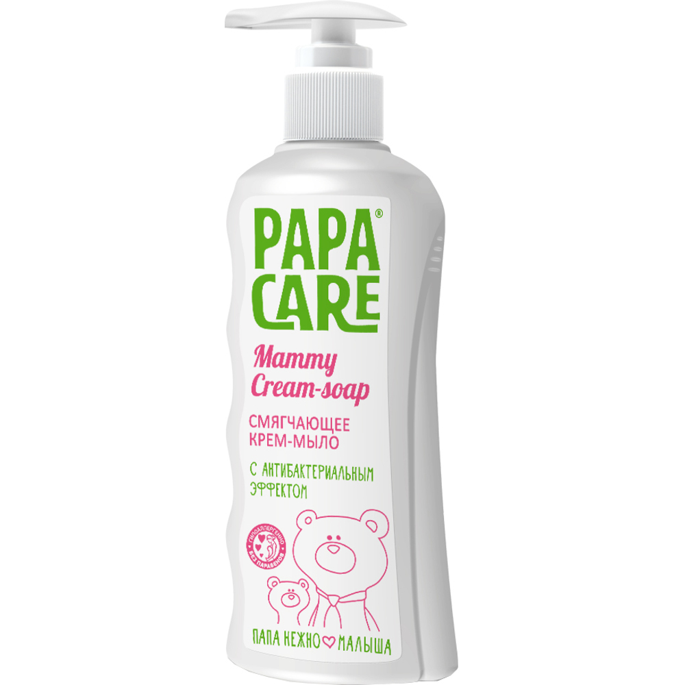 Детское мыло Papa Care Крем-мыло Papa Care смягчающее с антибактериальным эффектом 250 мл contex green 100 мл лубрикант с антибактериальным эффектом