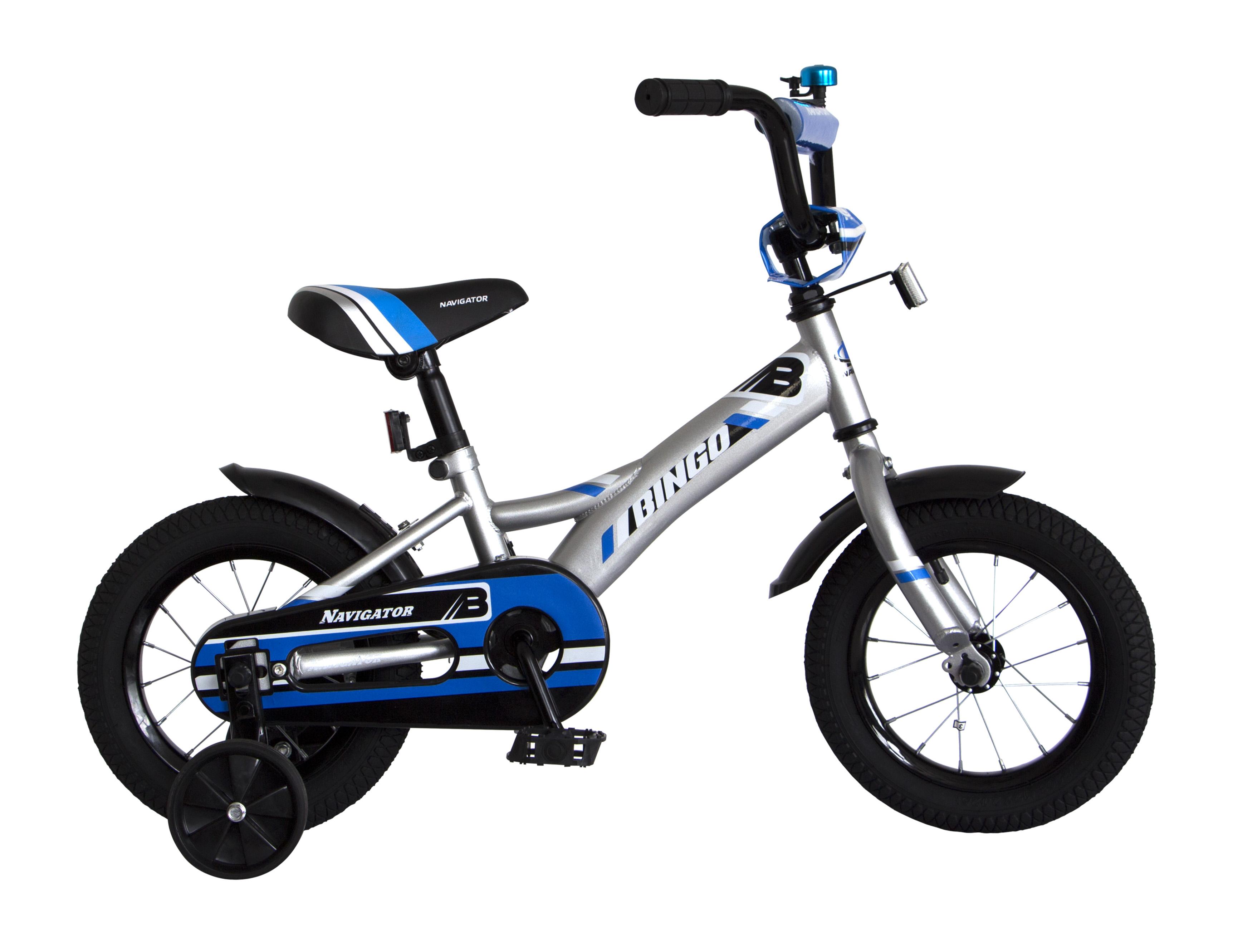 Велосипед двухколесный Navigator Bingo серебристый