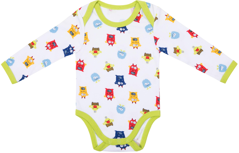 Купить Первые вещи новорожденного, Монстрики белое с рисунком 2шт, Barkito, Россия, white