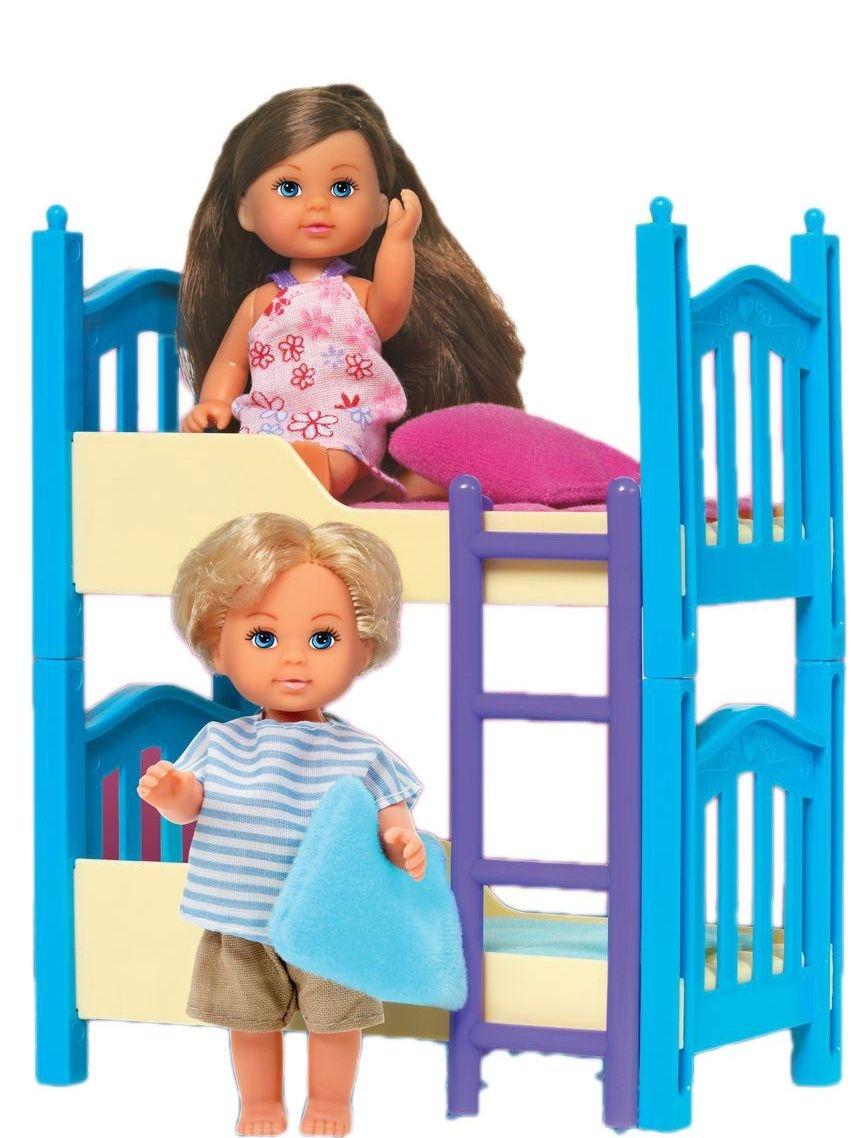 Evi Кукла Еви с братиком и двухъярусной кроваткой evi игровой набор simba еви с братиком с двухъярусной кроваткой 12 см