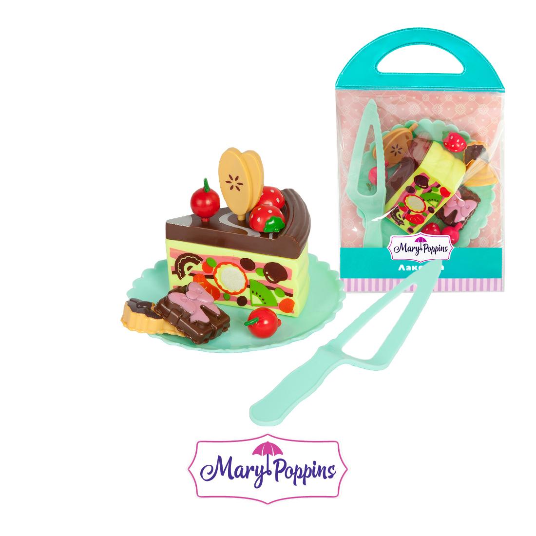 Посуда и наборы продуктов Mary Poppins Набор пирожных игрушечная бытовая техника mary poppins умный дом