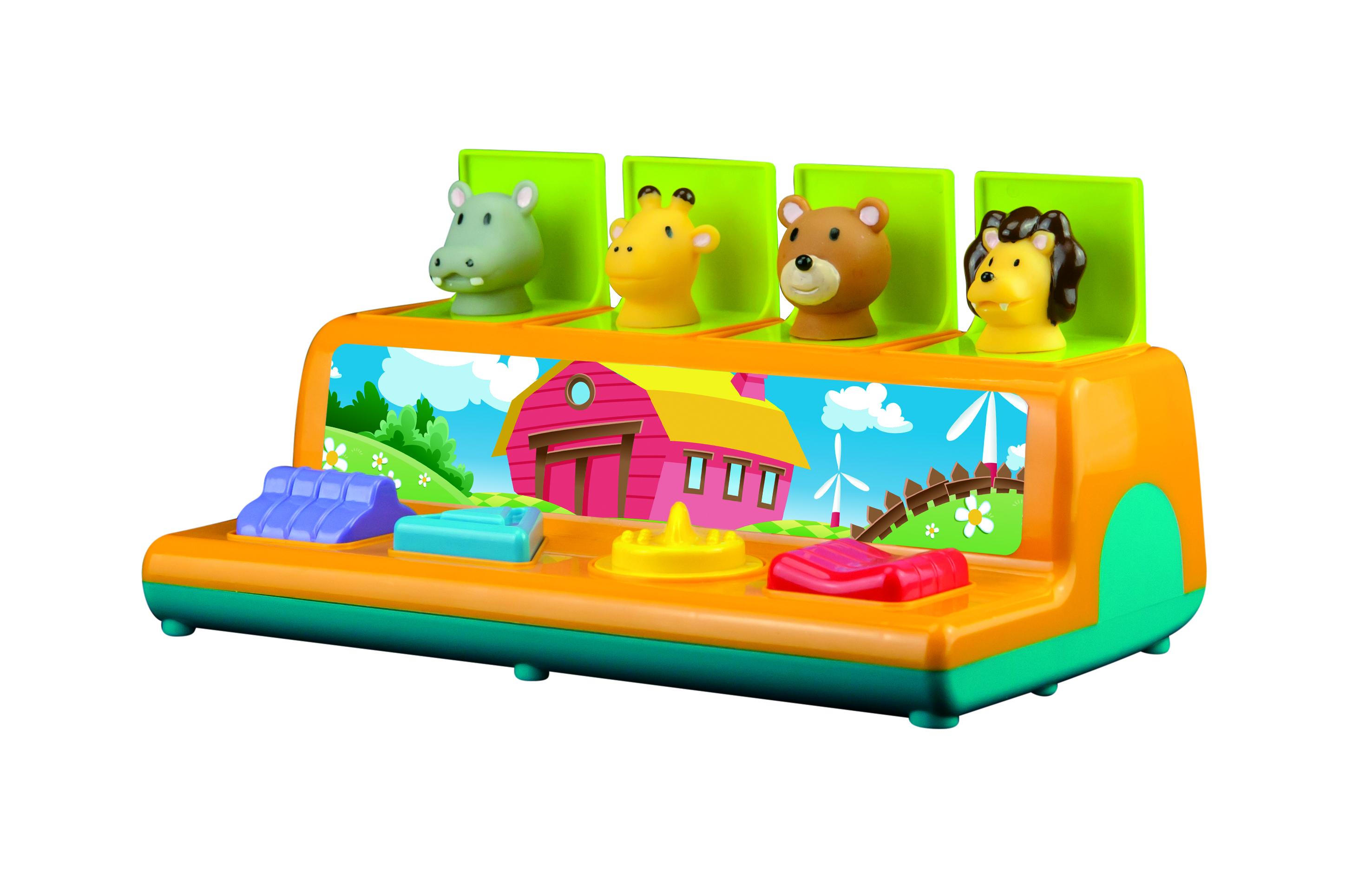 Развивающие игрушки Little Hero Эти забавные животные деревянные игрушки djeco пазл забавные животные