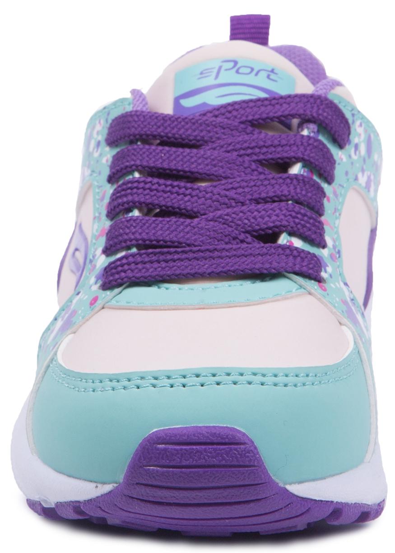 Ботинки и полуботинки Barkito Полуботинки типа кроссовых для девочки Barkito, бежевые с сиреневой отделкой полуботинки типа кроссовых для девочки barkito светло розовый