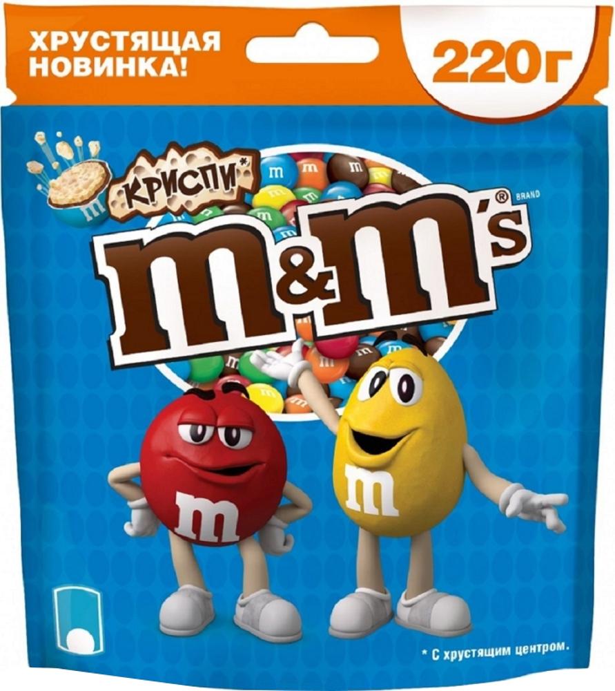 Драже M&M's M&M's «Криспи» 220 г драже m