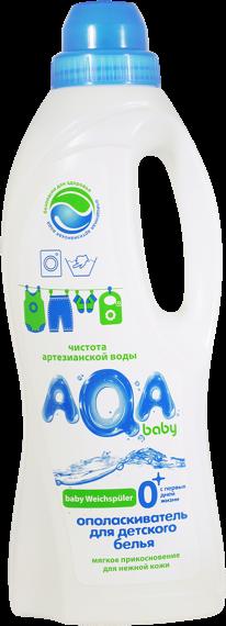 Ополаскиватель для детского белья AQA baby 1 л кондиционер ополаскиватель для детского белья cotico baby 1 л