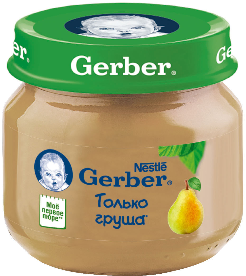 Пюре Gerber Gerber Только груша (с 4 месяцев) 80 г gerber пюре цветная капуста с 4 месяцев 12 шт по 80 г
