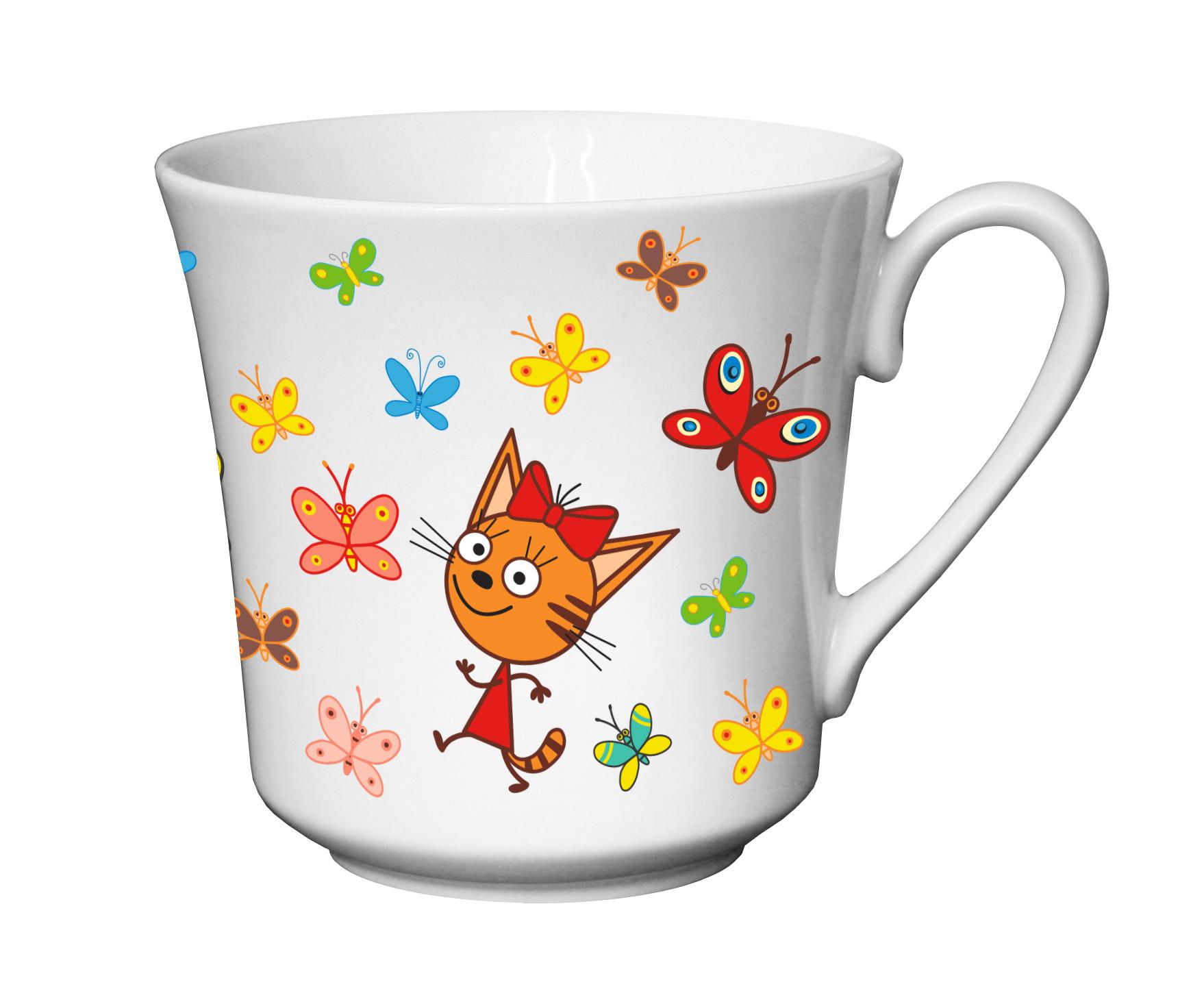 Набор посуды Приор Групп Три кота. Бабочки набор посуды приор групп ну погоди фарфор