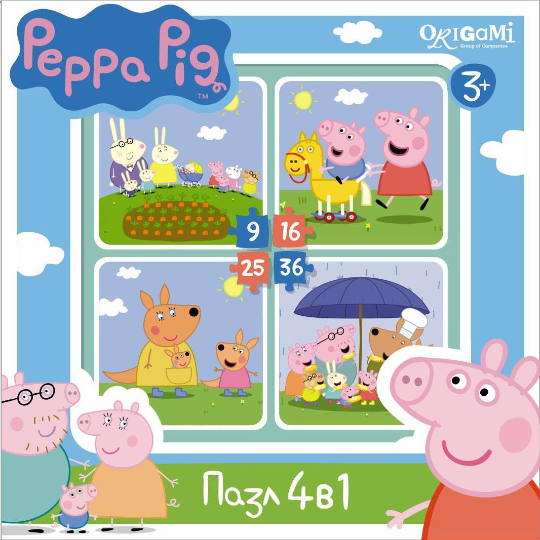 Peppa Pig Peppa Pig На отдыхе обучающий набор origami peppa pig 4 в 1