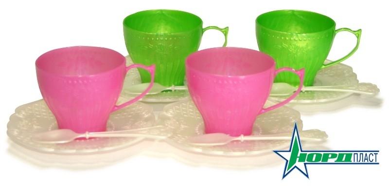 Посуда и наборы продуктов Нордпласт Чайный сервиз Волшебная Хозяюшка нордпласт игрушечный набор посуды кухонный сервиз волшебная хозяюшка цвет голубой зеленый