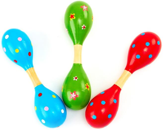 Деревянные игрушки Папа Карло Маракасы Папа Карло деревянные в ассортименте музыкальные игрушки meinl маракасы деревянные nino7pd b