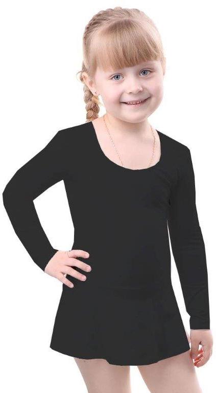 Купальники и плавки Свiтанак Комбидрес (гимнастический купальник) для девочки Свiтанак, черный свiтанак свiтанак комплект одежды брючки и туника голубой