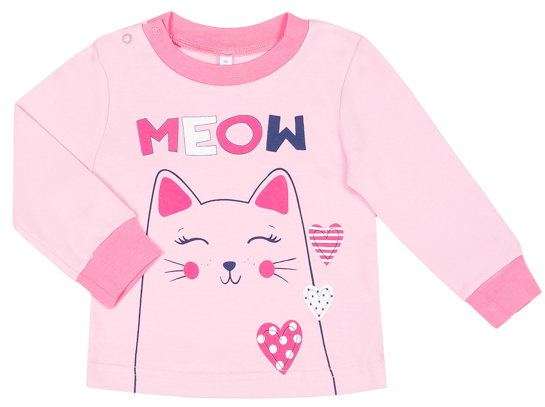 Пижама для девочки Barkito Сновидения, цвет розовый с темно-синим толстовки barkito супер baby серый с синим