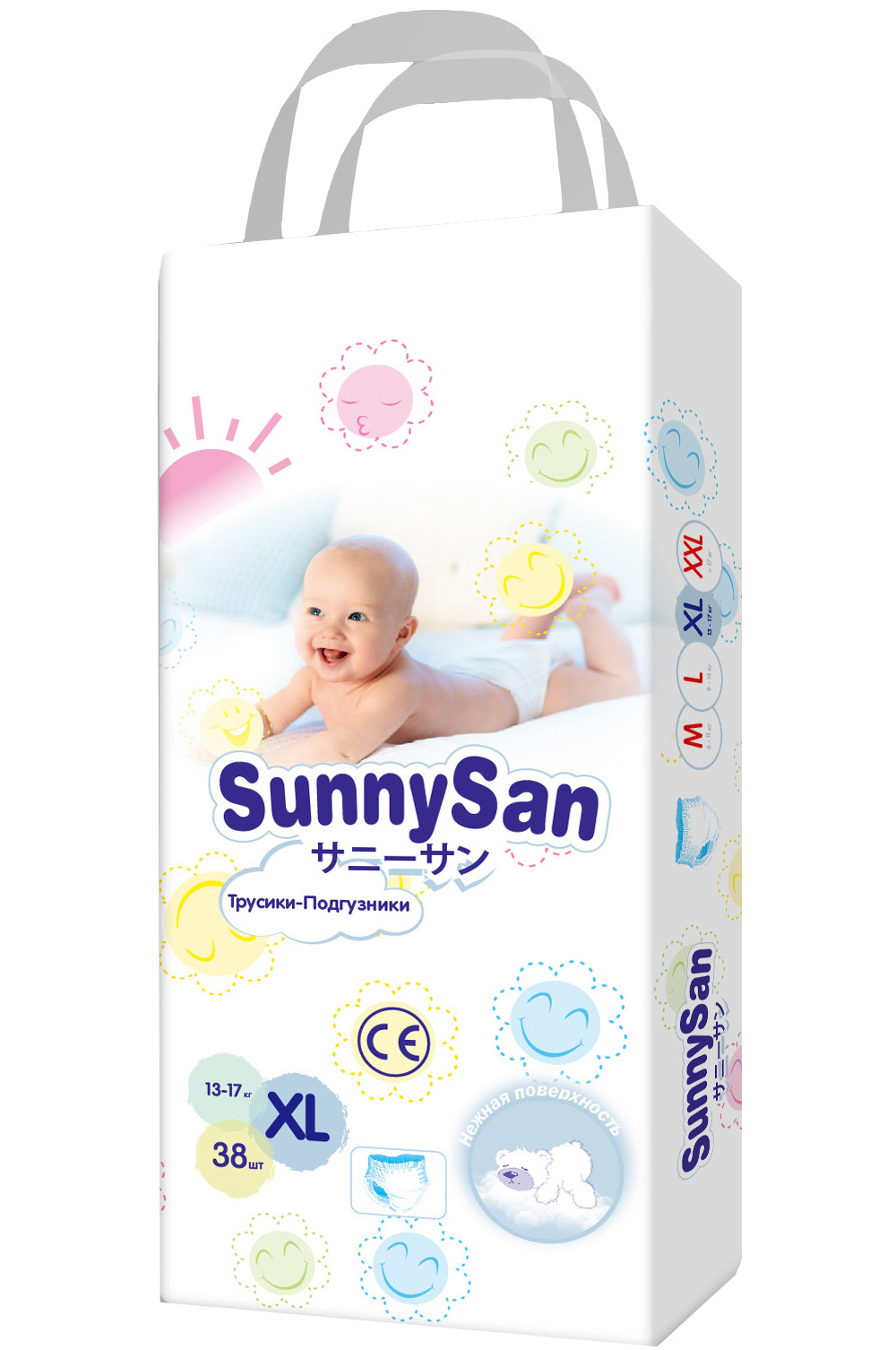 Трусики-подгузники SunnySan XL (13-17 кг) 38 шт.