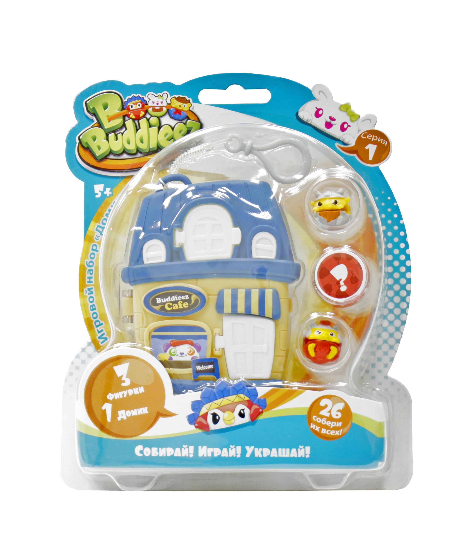 Украшения 1toy Синий домик с 3 шармами 1toy набор bbuddieez оранжевый домик для хранения с подвеской 3 шарма персонажа 1toy