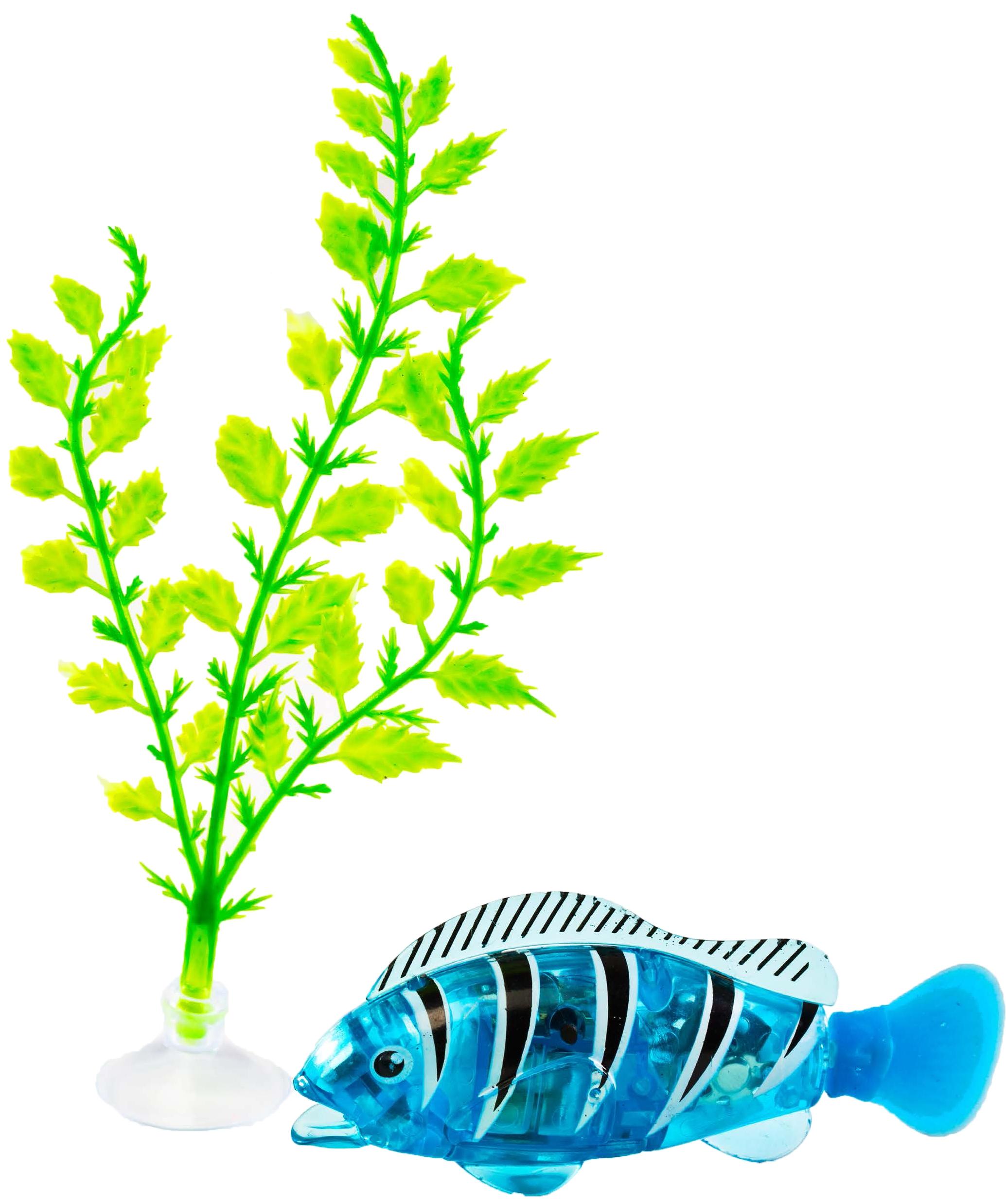 Интерактивная игрушка z-fish Рыбка плавающая с аксессуарами голубая все цены