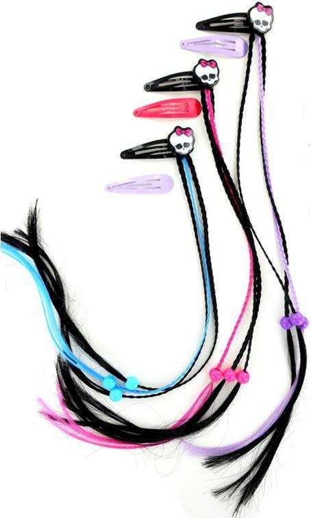 Украшения Monster High Заколка для волос Monster High с накладными волосами 2 шт. кольцо monster high череп большое и маленькое 2 шт