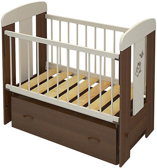 Кроватки детские Алмаз-Мебель Зайка 2 (маятник)