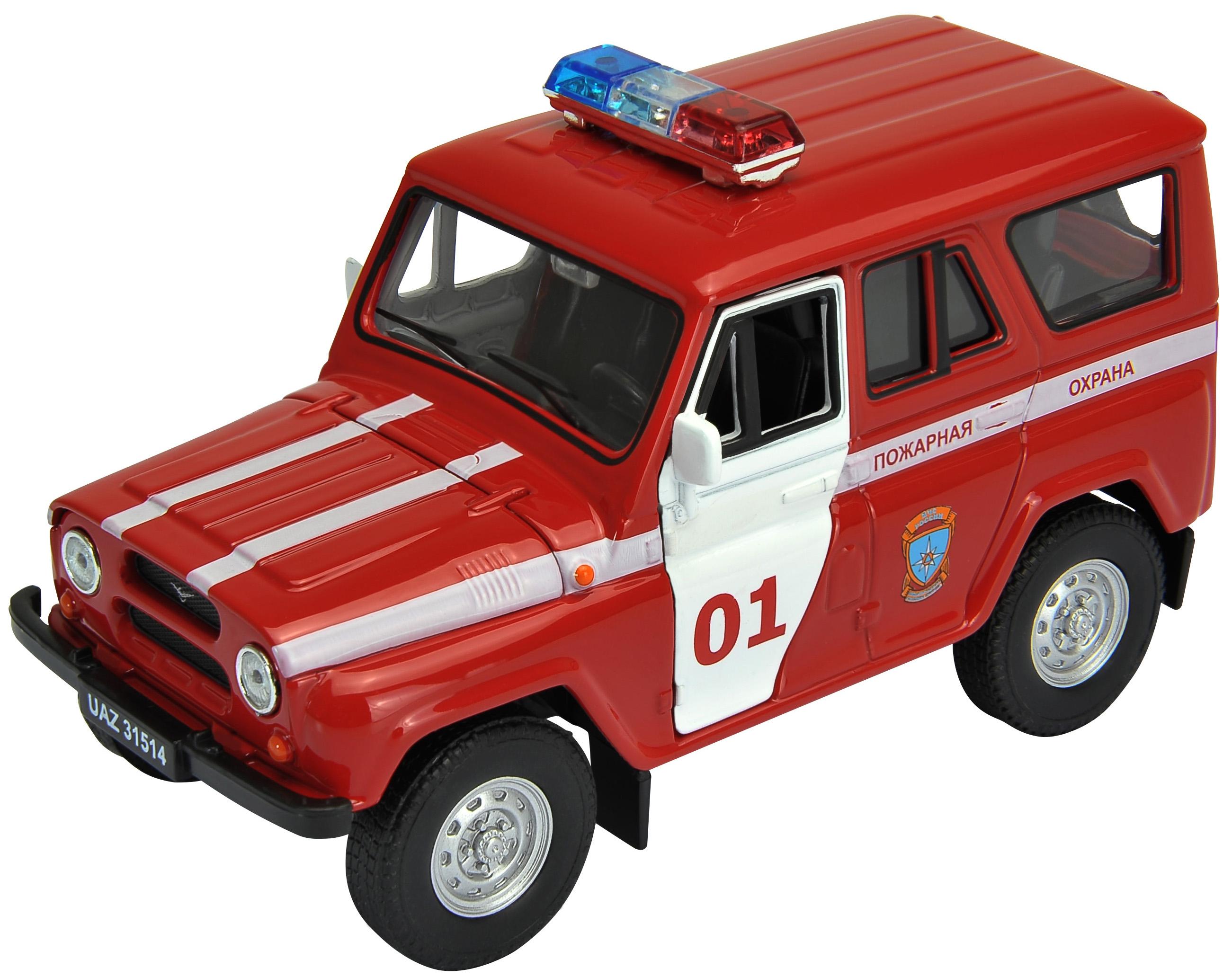 Машинка Welly УАЗ 31514 Военная инспекция инерционная 1:36 машина инерционная joy toy уаз hunter мчс р40513