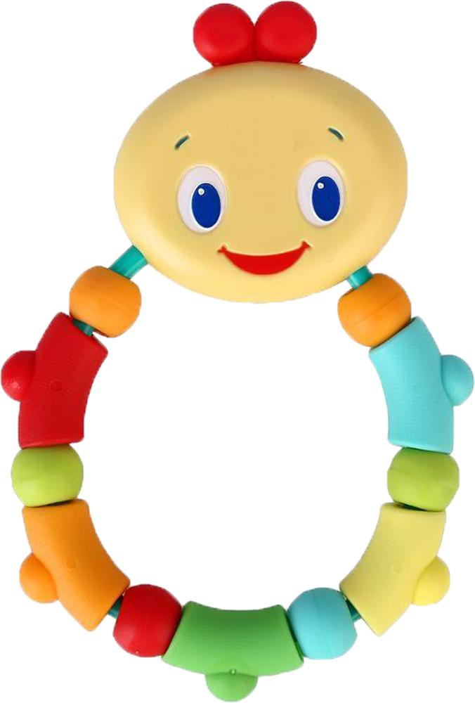 Прорезыватель BRIGHT STARTS Гусеничка кольцо игрушка прорезыватель bright starts гусеничка оранжевая