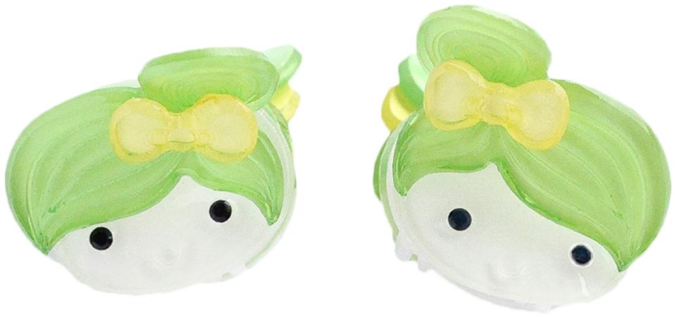 Украшения Принчипесса Краб для волос Принчипесса «Девочка» зеленый 2 шт. невидимка для волос funny bunny розовые цветы 2 шт