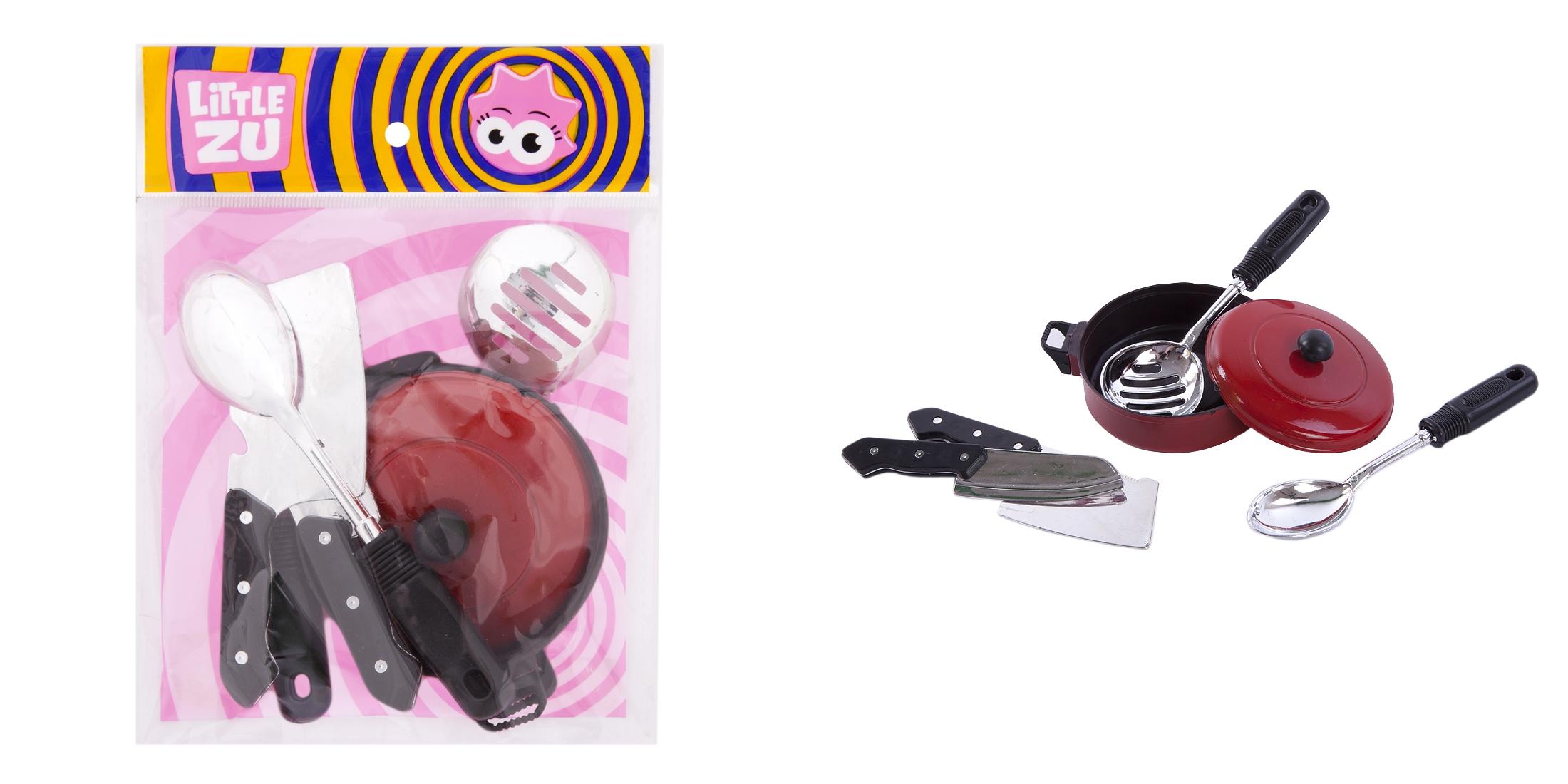 Купить Детские кухни и бытовая техника, «Бытовая заводная техника», «Набор посуды», 1шт., Little Zu 90045, Китай