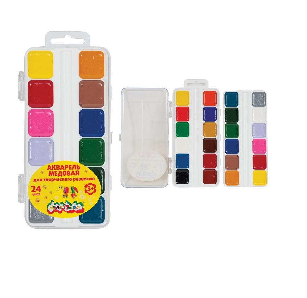 Краски Каляка-Маляка Акварель Каляка-Маляка 24 цвета картридж canon cl 511 color для mp240 mp250 mp260 mp270 mp490 mx320 mx330 2972b007