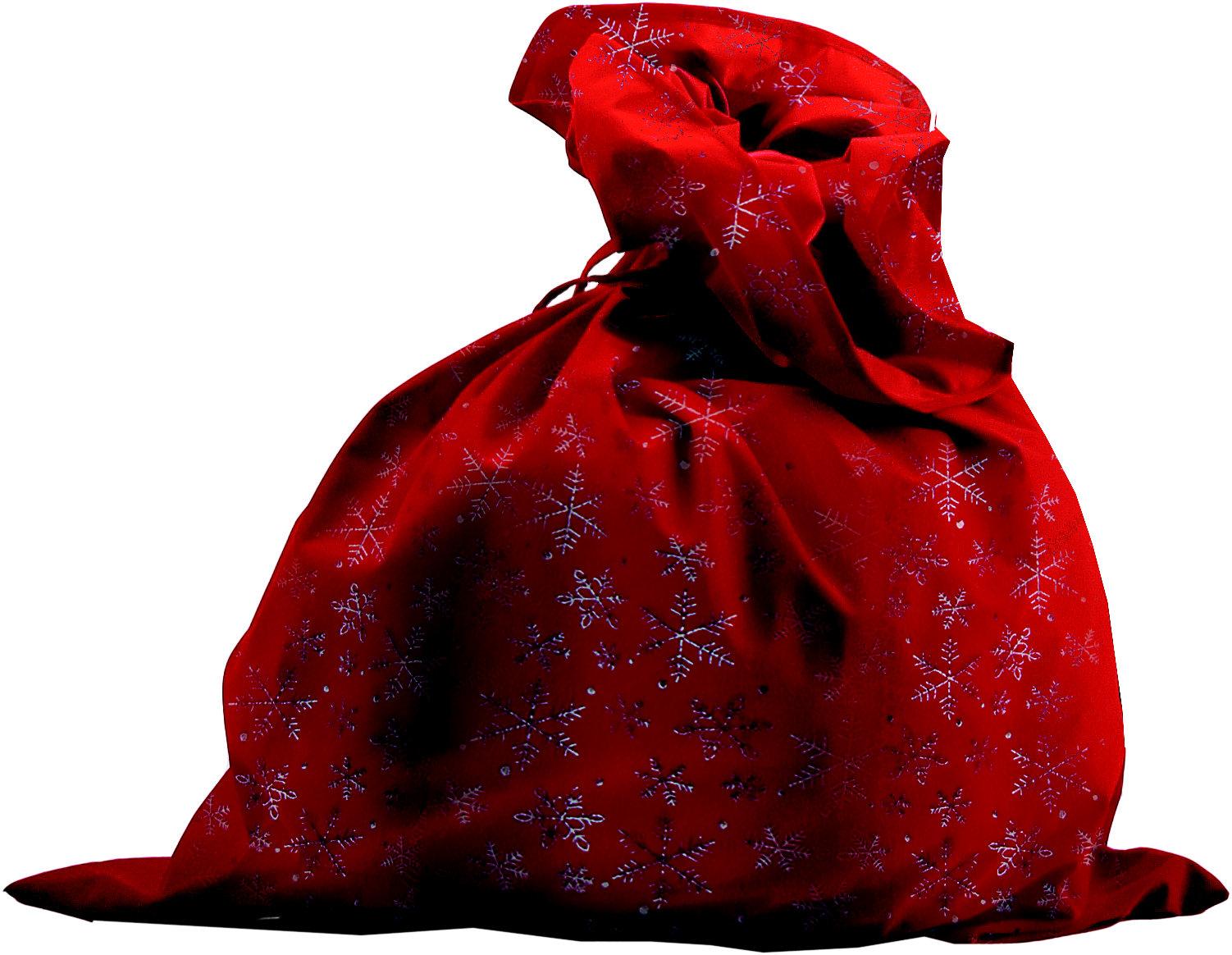 Костюмы и маски Батик Мешок Деда Мороза Батик со снежинками красный сатиновый красный костюм деда мороза 54 56