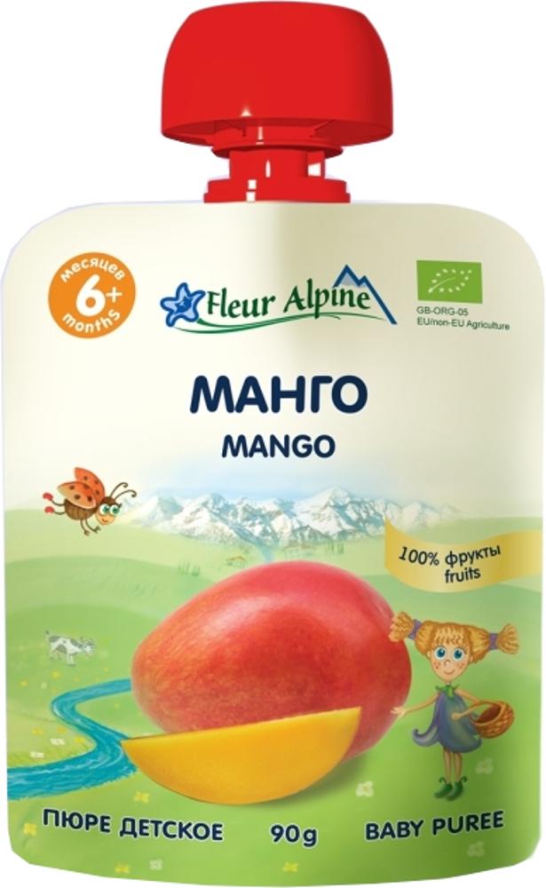 Пюре Fleur Alpine Fleur Alpine Organic Манго с 6 мес. 90г (пауч)
