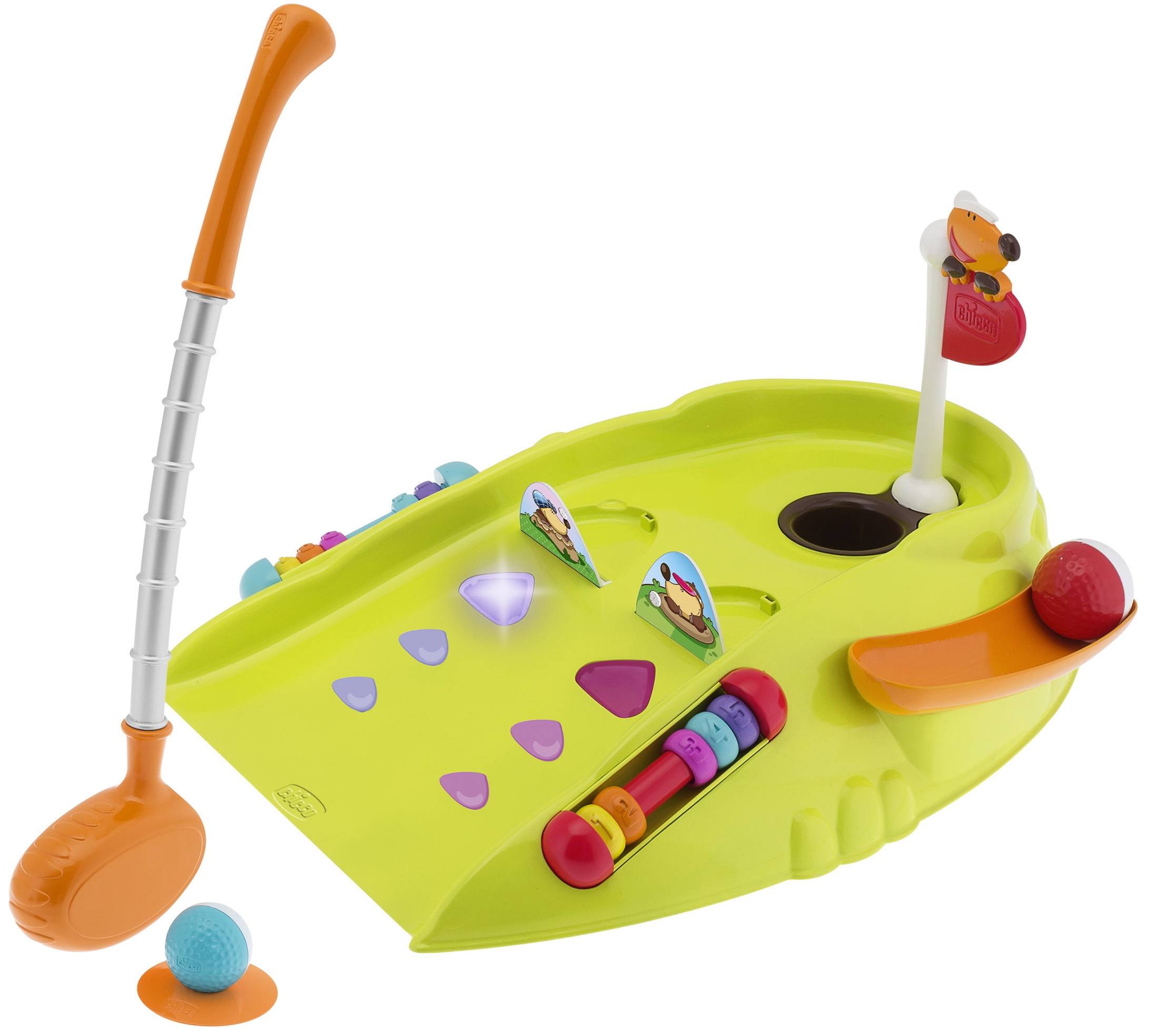 Развивающие игрушки CHICCO Игровой центр Chicco «Fit&Fun: Мини-гольф» chicco мини гольф клуб линия fit&fat chicco