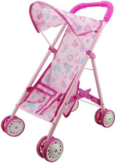 Купить Коляска для куклы, Прогулочная, 1шт., 1toy Т58752, Китай, pink, Женский