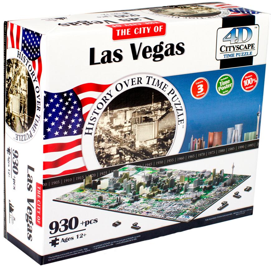 Пазлы 4D Cityscape Пазл 4D Cityscape «Лас- Вегас» 930 дет. объемный