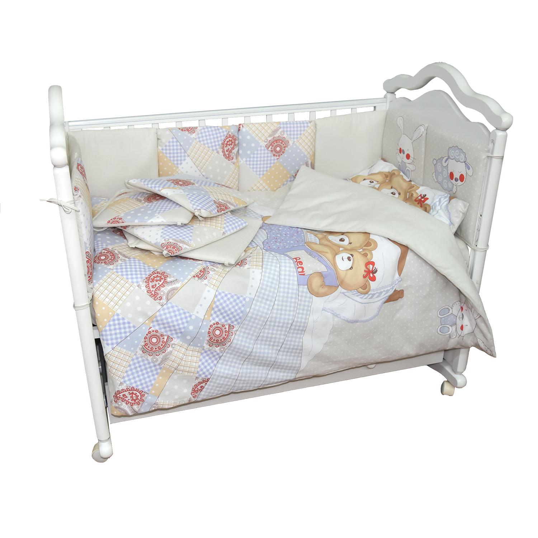 Комплект в кроватку L'Abeille Мишки под одеялом