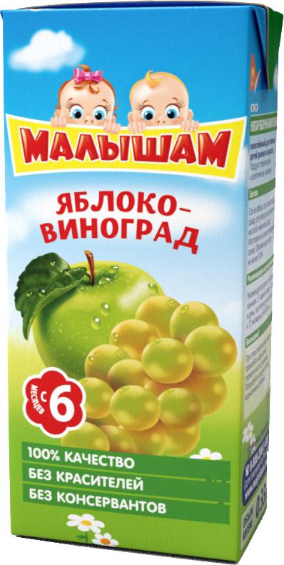 Напитки ФрутоНяня Малышам ФрутоНяня Малышам Яблоко и виноград с 6 мес. 330 мл сок фрутоняня малышам яблоко с 4 мес 330 мл