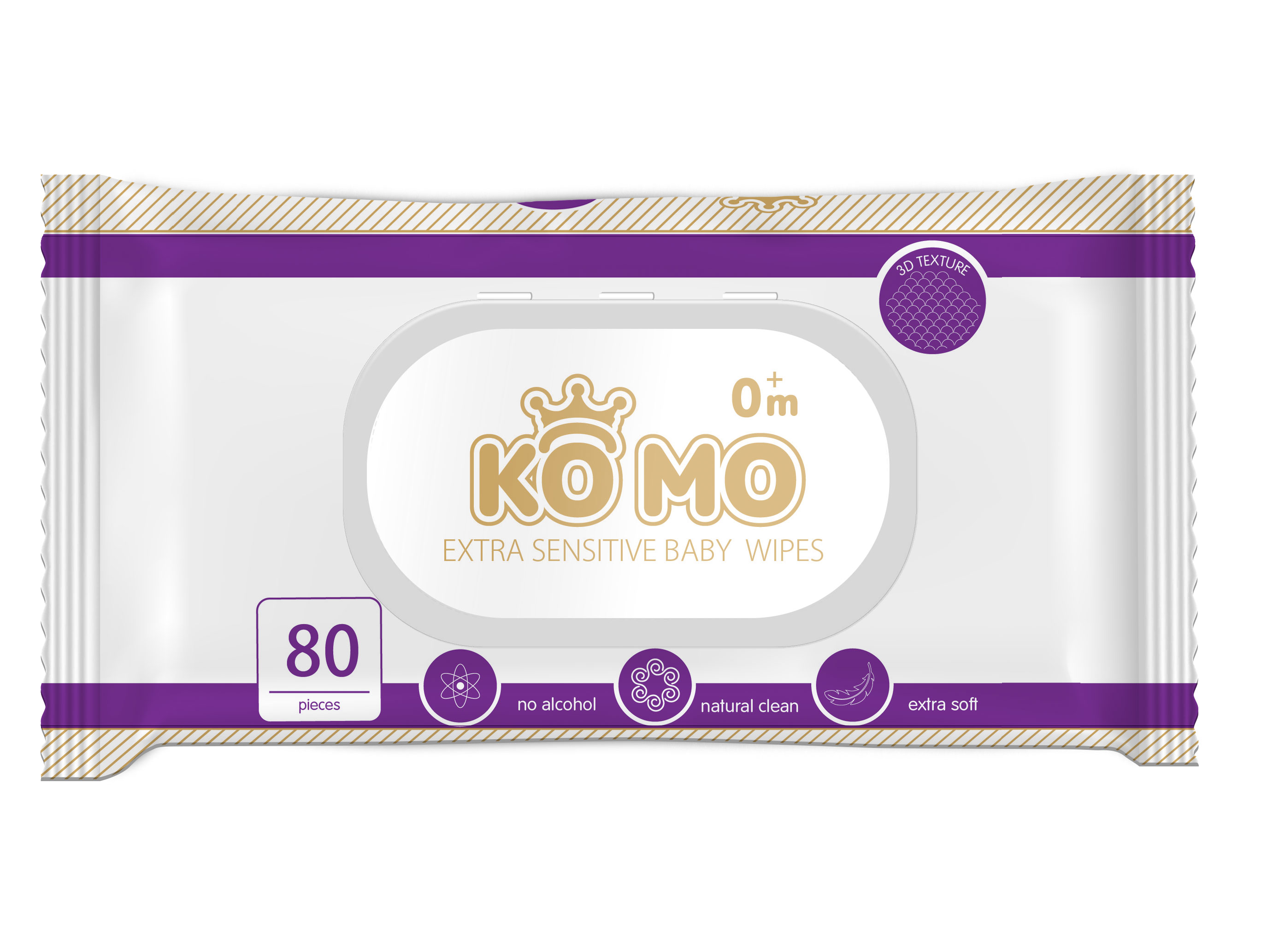 Купить Влажные салфетки, 80 шт, Ko Mo, Китай, Текстурированное полотно 45*200, 40% вискоза, 60 % полиэфир.