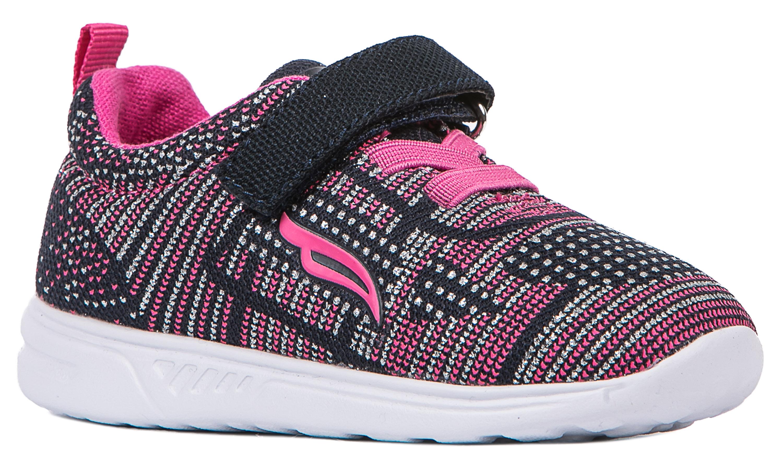 Кроссовки и кеды Barkito Полуботинки типа кроссовых для девочки Barkito, сине-розовые полуботинки типа кроссовых для девочки barkito светло розовый