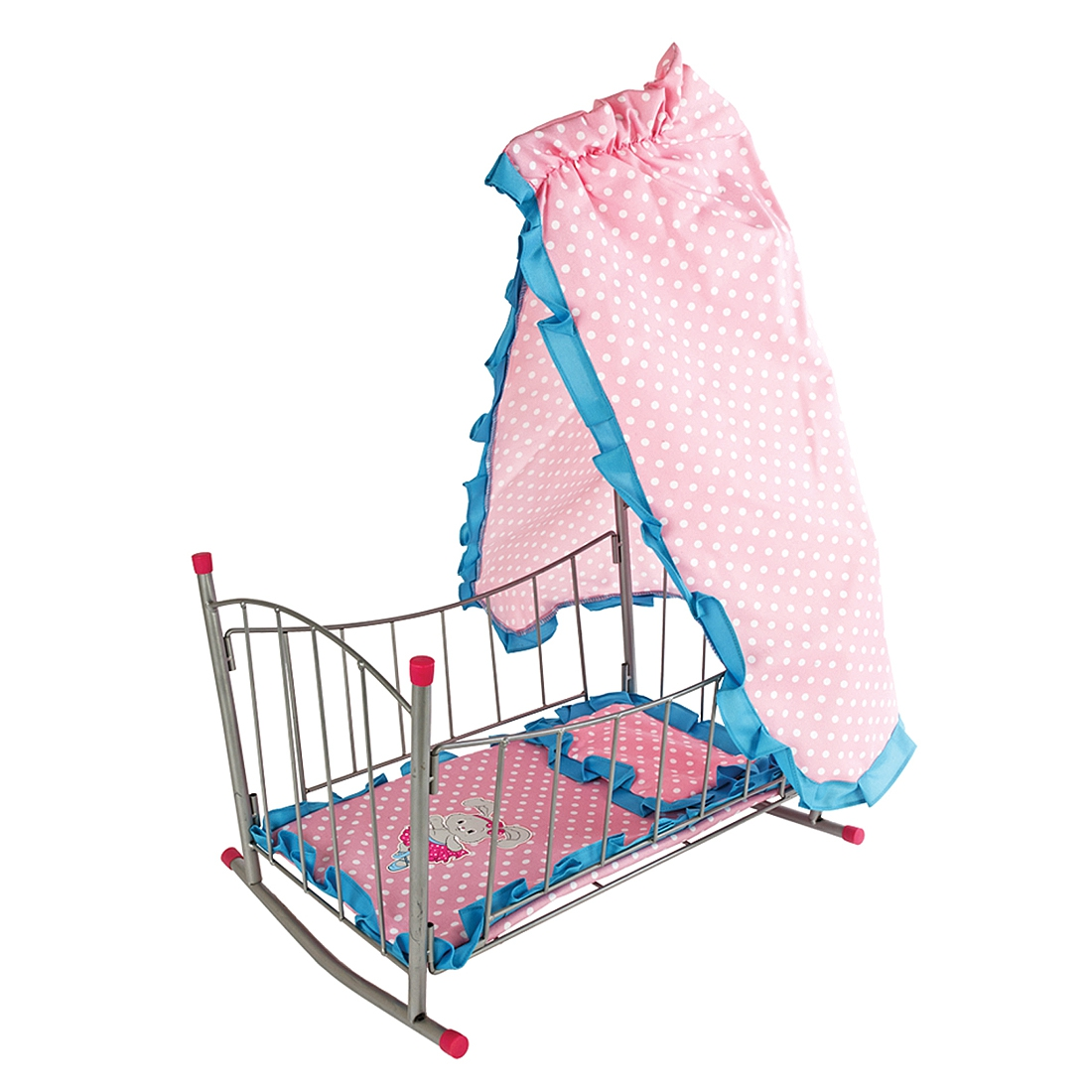 Мебель для кукол Наша игрушка Кровать-качалка для куклы Зайка с балдахином кроватка качалка для кукол полесье кроватка качалка сборная для кукол 2