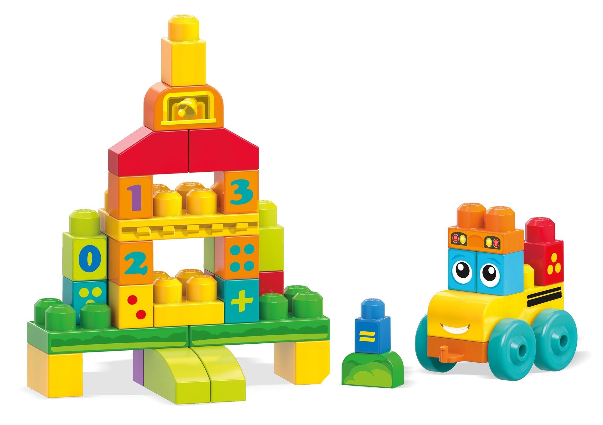 Фото - Конструкторы для малышей Mega Bloks Обучающий автобус с цифрами FBM80 mega bloks mega bloks конструктор обучающий для малышей разные формы