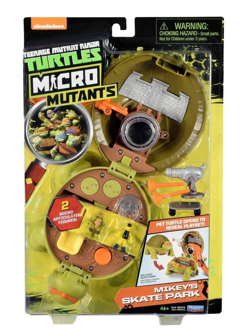 Игровой набор Гулливер Черепашки Ниндзя Микро Скейт парк Майки turtles черепашки ниндзя микро вагон для ниндзя вечеринок с фигурками майки и бибопа