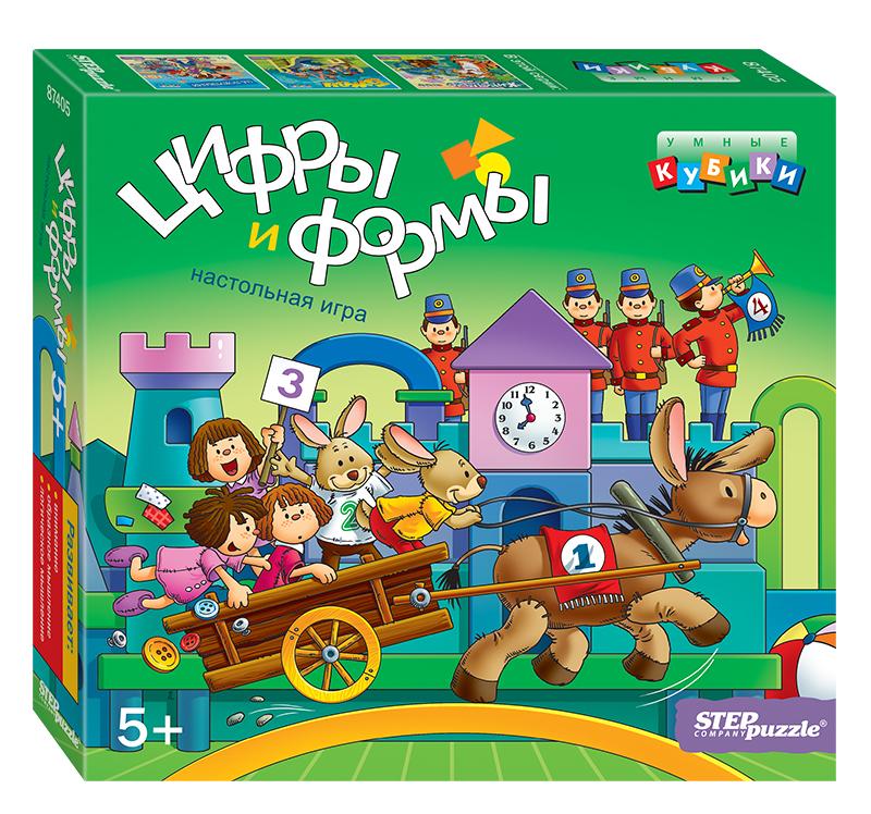Кубики Step Puzzle Умные кубики Step Puzzle «Цифры и формы» step puzzle домино 55 лучших игр мира