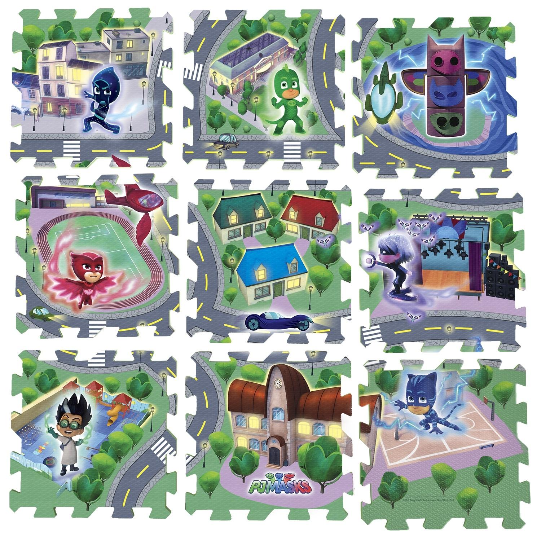 Развивающие коврики PJ Masks «Город Героев» 9 элементов игровые коврики mambobaby город
