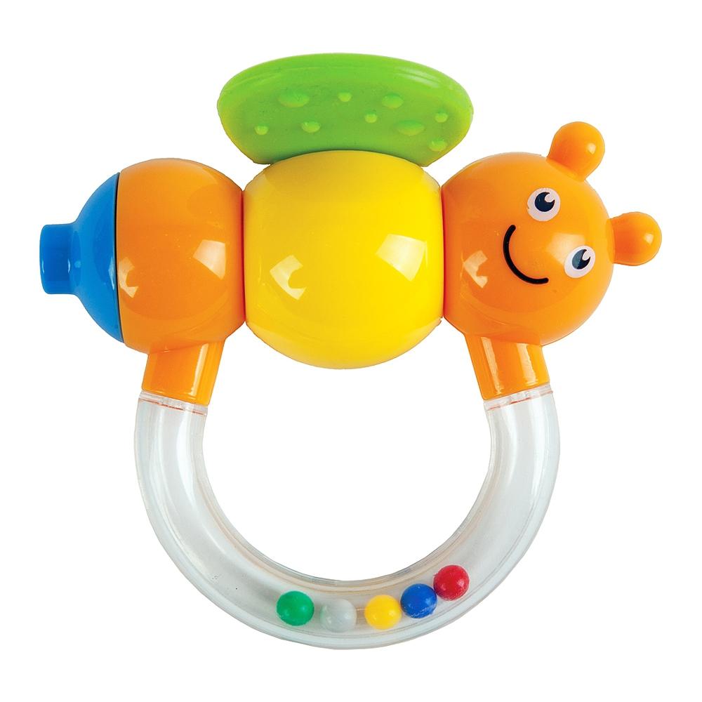 Погремушка Наша игрушка Пчёлка Мая с дудочкой жирафики погремушка прорезыватель жирафики пчёлка мая с дудочкой