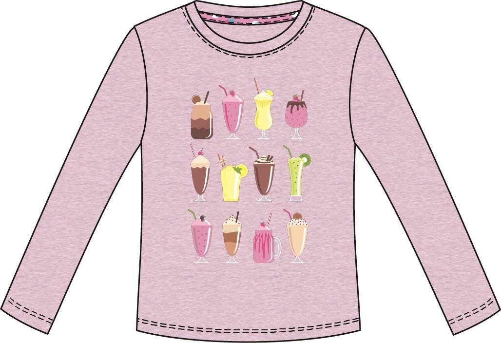 Футболки и топы Barkito Футболка с длинным рукавом для девочки Barkito Сладкоежка-1, розовая футболки и топы barkito сладкоежка 2