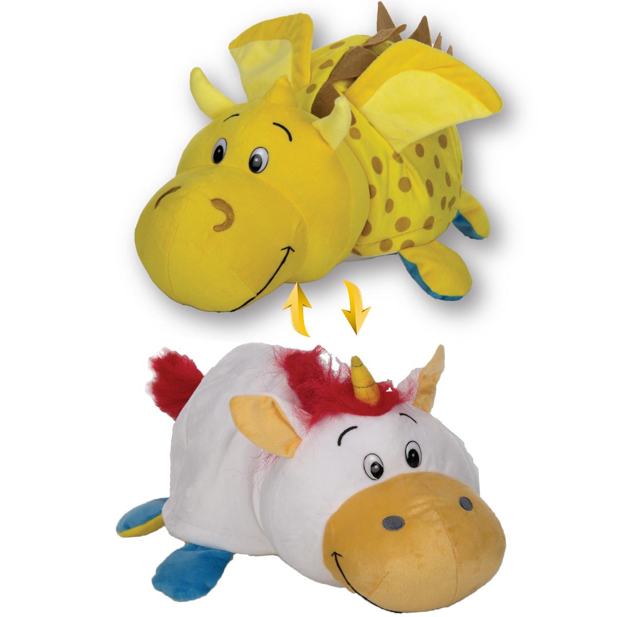 Мягкие игрушки 1toy Вывернушка Дракон-Единорог Т12335 мягкие игрушки trudi лайка маркус 34 см