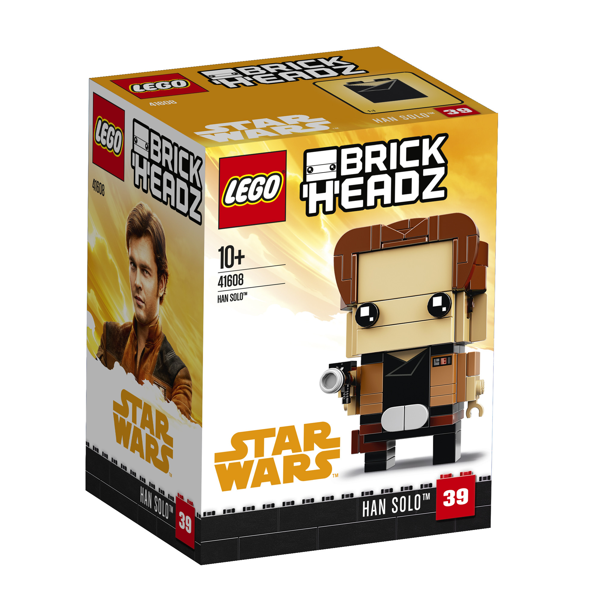 LEGO LEGO Конструктор LEGO BrickHeadz 41608 Хан Соло худи print bar хан соло зомби