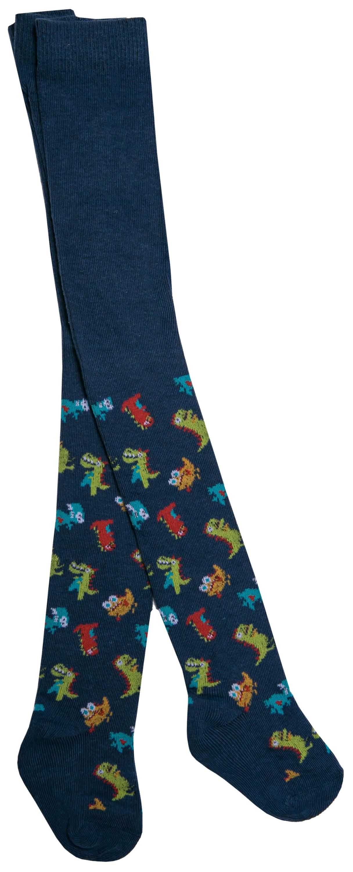 Купить Колготки для мальчика Barkito, синие с рисунком «динозавры», Китай, синий с рисунком динозавры , Мужской