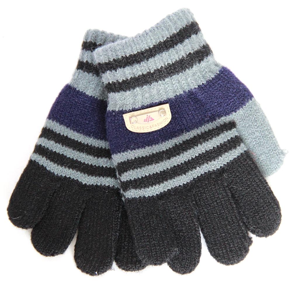 Варежки и перчатки Перчатки для мальчика Хамелеон черные, в полоску ботинки для мальчика reima черные